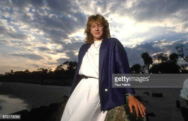 Steffi Graf tennis player and WTA champion photographed March 20 1985 on Delray Beach Florida