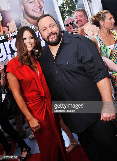 Steffiana de la Cruz and actor Kevin James attend the 'Grown Ups 2' New York Premiere at AMC Lincoln Square Theater on July 10 2013 in New York City