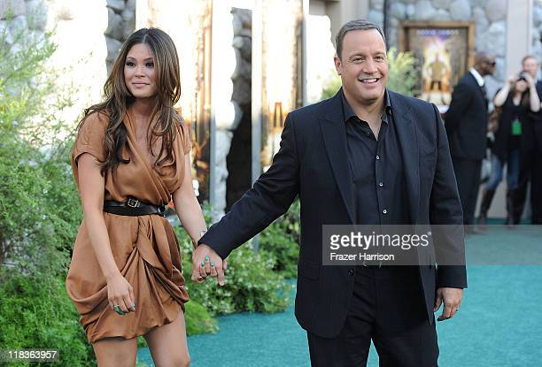 Steffiana de la Cruz and Kevin James arrive at the Premiere of 'The Zookeeper' at the Regency Village Theater Westwood on July 6 2011 in Los Angeles...