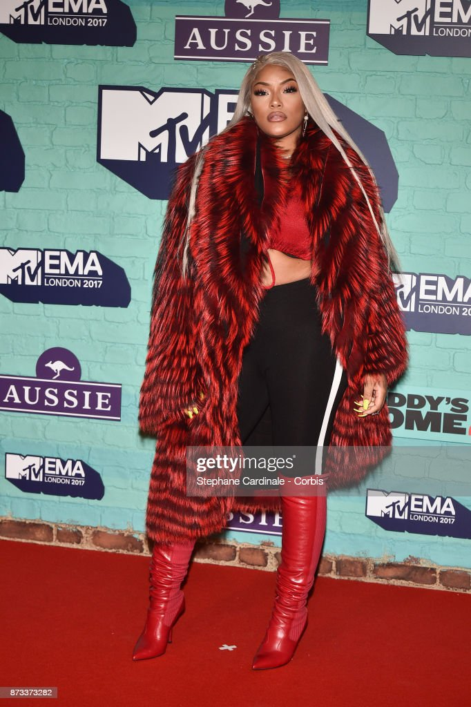 Stefflon Don attends the MTV EMAs 2017 at The SSE Arena, Wembley on November 12, 2017 in London, England.