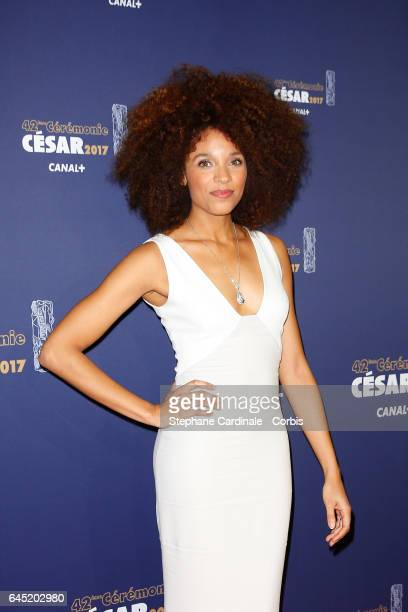 Stefi Celma arrives at the Cesar Film Awards 2017 ceremony at Salle Pleyel on February 24 2017 in Paris France