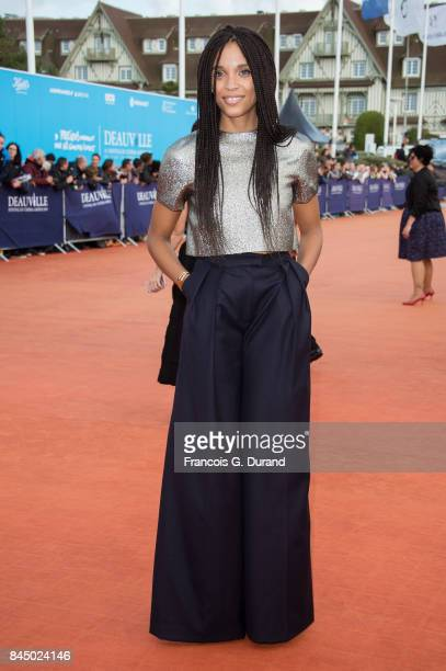 Stefie Celma arrives at the closing ceremony of the 43rd Deauville American Film Festival on September 9 2017 in Deauville France