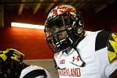 Stefon Diggs of the Maryland Terrapins walks out of the tunnel for their game against the Stanford Cardinal in the Foster Farms Bowl at Levi's...