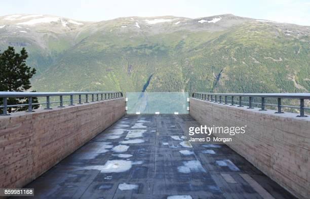 Stegastein lookout in norway on February 8th 2017 in Norway