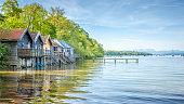 A hdr image of the Ammer Lake at Stegen Bavaria Germany