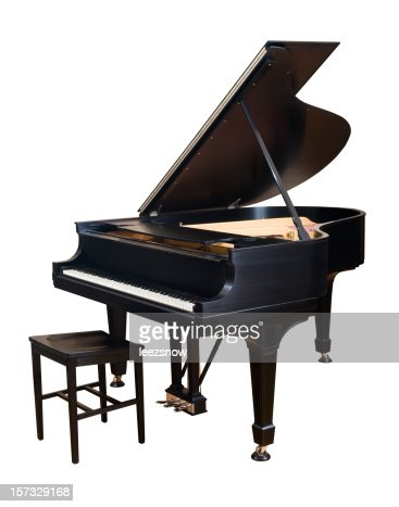 Steinway Parlor Grand Piano on White