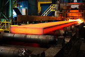 Iron and steel factory and production.