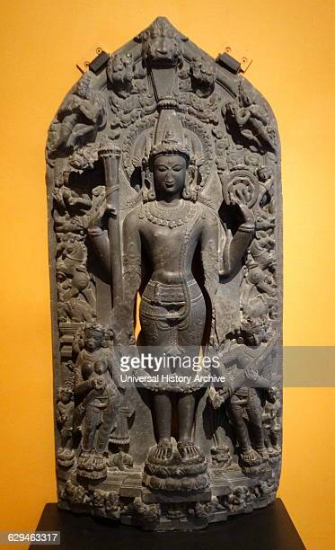 Stela depicting Vishnu from Bihar India Dated 11th Century