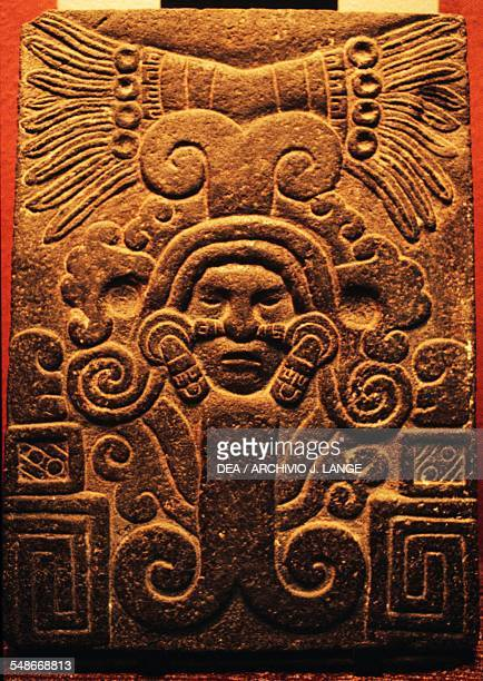 Stele depicting the goddess Cihuacoatl from the high central plateau Aztec 13th16th century Mexico City Museo Nacional De Antropología