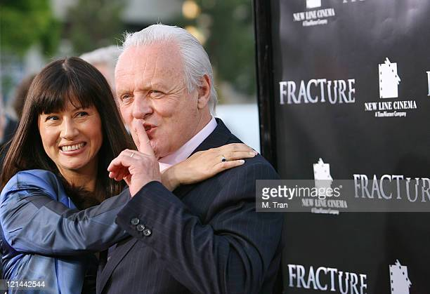 Stella Arroyave and Sir Anthony Hopkins during 'Fracture' Los Angeles Premiere Arrivals at Mann Village Theater in Westwood California United States