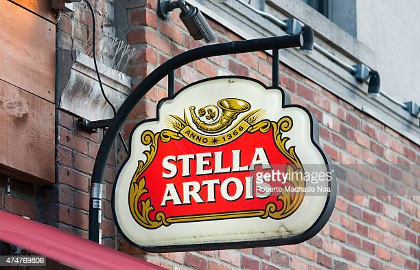 Stella Artois advertisement sign in Little Italy Stella Artois informally called Stella is a pilsner beer of between 48 and 52% ABV which has been...