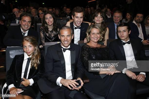 Stella Belmondo Paul Belmondo Luana Belmondo and Victor Belmondo attend Cesar Film Award 2017 at Salle Pleyel on February 24 2017 in Paris France