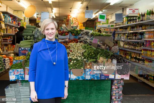 Stella Creasy Labour MP for Walthamstow poses as she begins to campaign in her constituency for the General election on April 21 2017 in Walthamstow...
