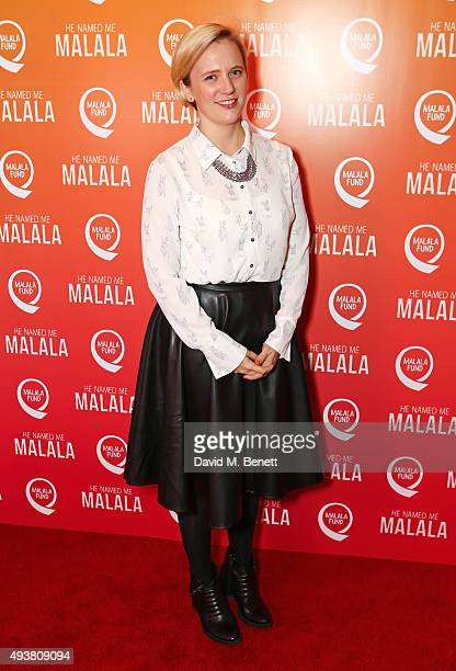 Stella Creasy MP attends a special screening of 'He Named Me Malala' on October 22 2015 in London England