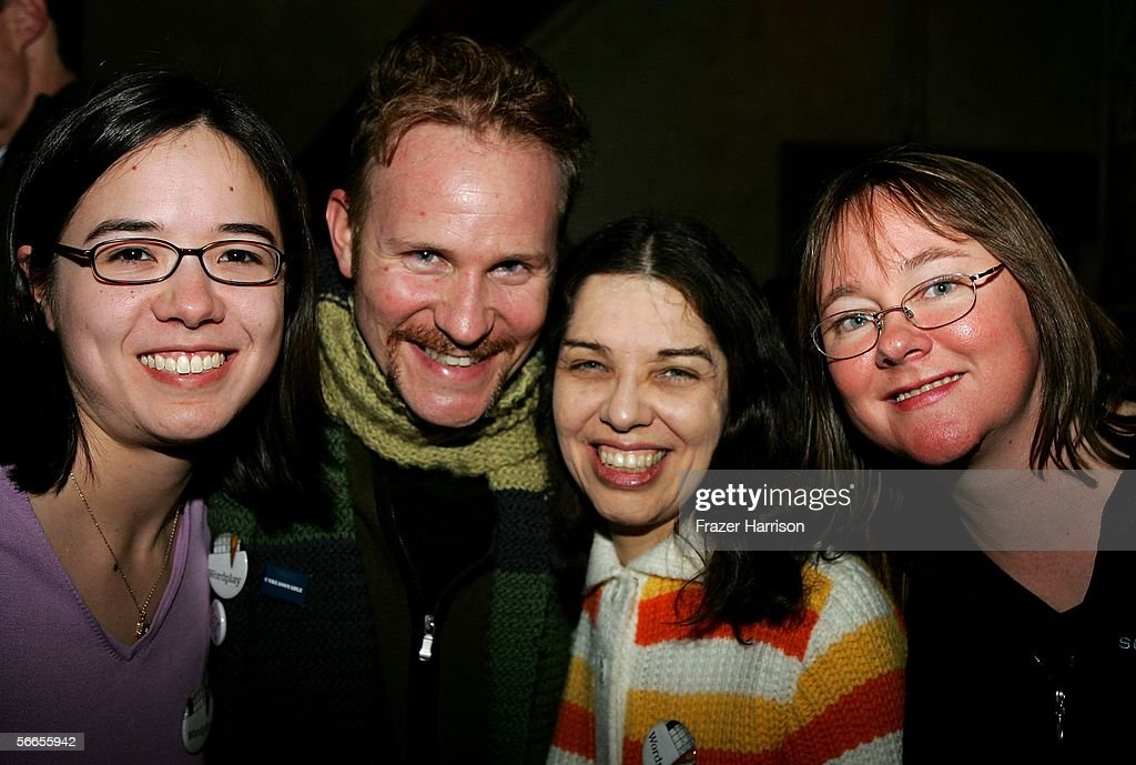 Stella Daily, Ellen Ripstein, Actor Morgan Spurlock, and Amy Reynaldo of the production 'Wordplay' arrive to the Cinetic Media Party at the Sundance Film Festival held at Zoom on January 23, 2006 in Park City, Utah.