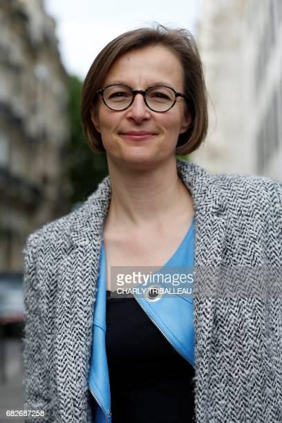 Stella Dupont candidate in the Maine et Loire 2 constituency for the party La Republique en Marche poses at the entrance of the Quai Branly museum...