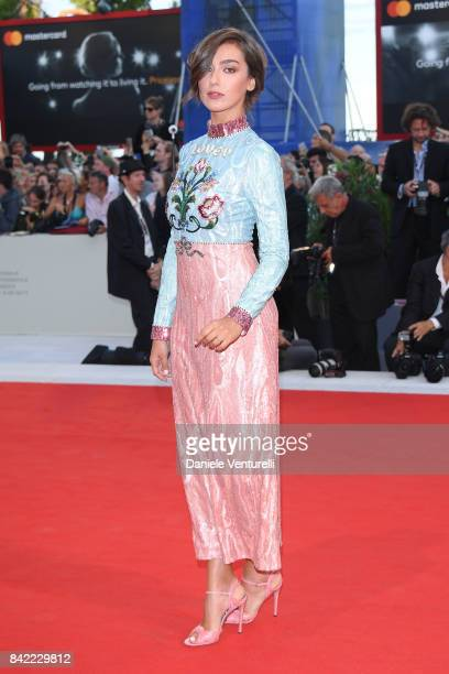 Stella Egitto walks the red carpet ahead of the 'The Leisure Seeker ' screening during the 74th Venice Film Festival at Sala Grande on September 3...