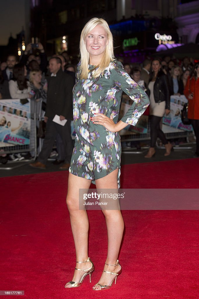 Stella English attends the European premiere of 'One Chance' at Odeon Leicester Square on October 17, 2013 in London, England.