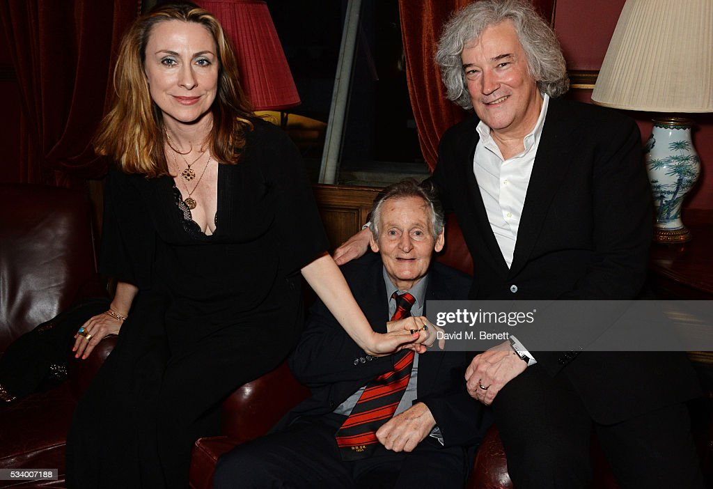 Stella Feehily, Max Stafford-Clark and Karl Sydow attend the press night after party for 'A View From Islington North' at The Garrick Club on May 24, 2016 in London, England.