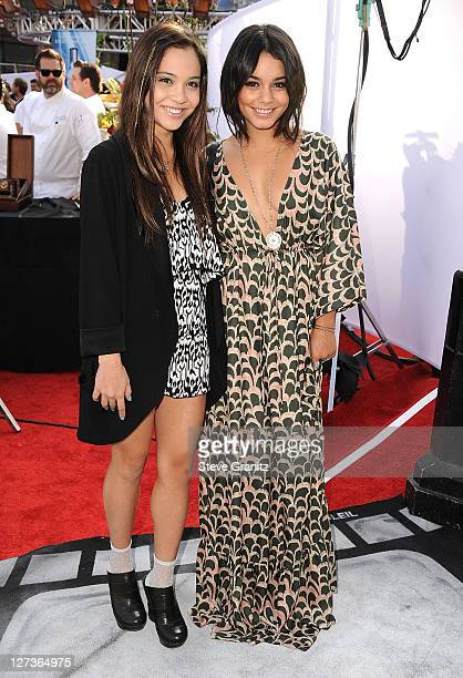Stella Hudgens and Vanessa Hudgens attends Premiere Of 'Iris' A Journey Into The World Of Cinema By Cirque du Soleil at the Kodak Theatre on...
