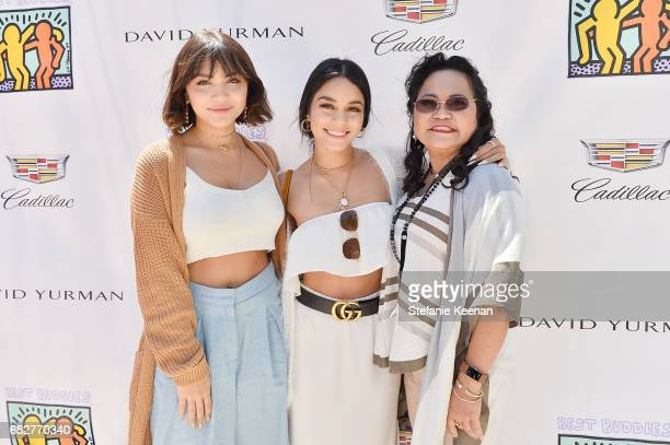 Stella Hudgens Vanessa Hudgens and Gina Guangco attend Cindy Crawford and Kaia Gerber host Best Buddies Mother's Day Brunch in Malibu CA sponsored by...