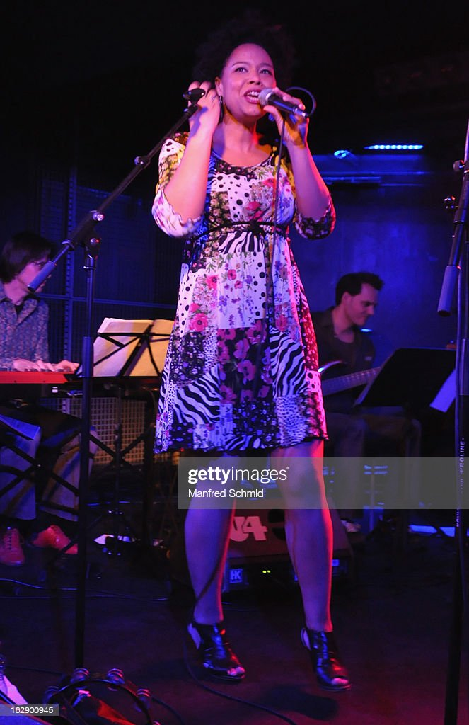 Stella Jones performs on stage during the CD Presentation 'M.A.Y.A.' at Diskothek U4 on February 28, 2013 in Vienna, Austria.