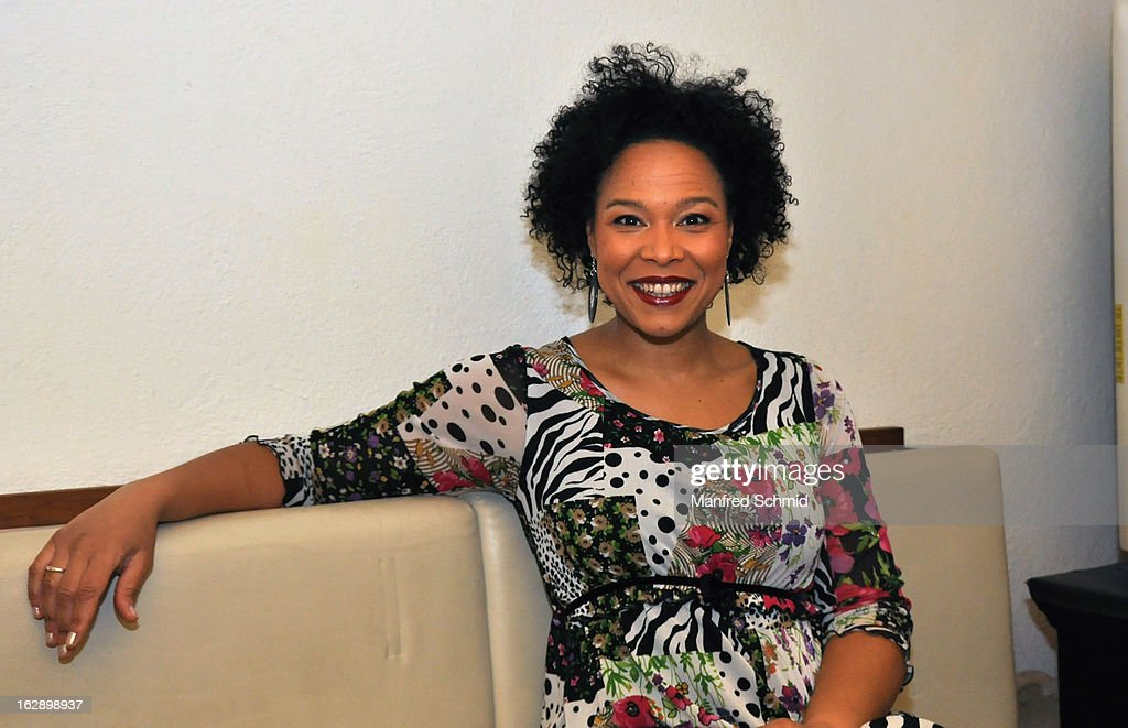 Stella Jones poses backstage during the CD Presentation 'M.A.Y.A.' at Diskothek U4 on February 28, 2013 in Vienna, Austria.