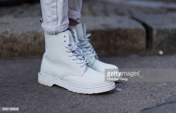 Stella Kippe wearing white boots on March 26 2017 in Berlin Germany
