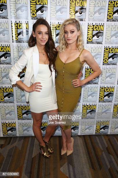 Stella Maeve and Olivia Taylor Dudley arrive at 'The Magicians' press line at ComicCon International 2017 on July 22 2017 in San Diego California