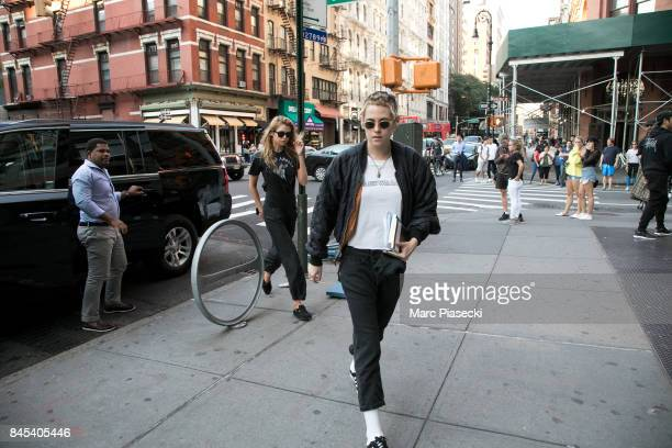 Stella Maxwell and actress Kristen Stewart are seen on September 10 2017 in New York City