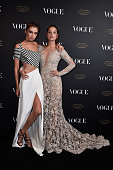 Stella Maxwell and Barbara Palvin attend the Vogue 95th Anniversary Party on October 3 2015 in Paris France