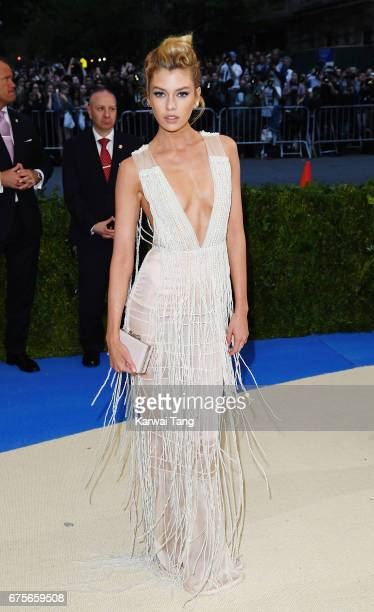 Stella Maxwell attends 'Rei Kawakubo/Comme des Garcons Art Of The InBetween' Costume Institute Gala at Metropolitan Museum of Art on May 1 2017 in...