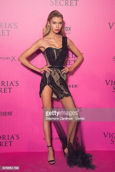 Stella Maxwell attends the 2016 Victoria's Secret Fashion Show after party at Le Grand Palais on November 30 2016 in Paris France