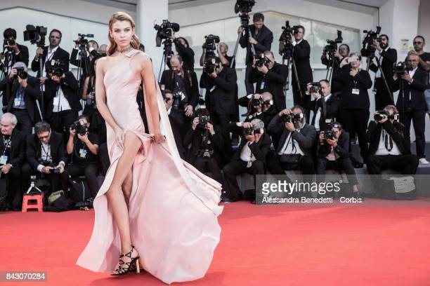 Stella Maxwell attends the 'mother' screening during the 74th Venice Film Festival at Sala Grande on September 5 2017 in Venice Italy