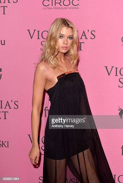 Stella Maxwell attends the pink carpet of the 2014 Victoria's Secret Fashion Show on December 2 2014 in London England