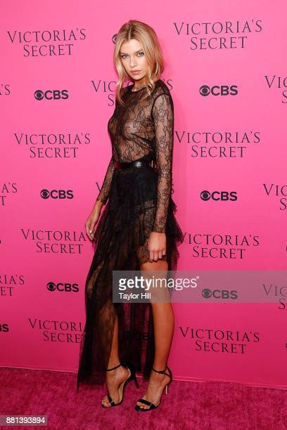 Stella Maxwell attends the Victoria's Secret Viewing Party Pink Carpet celebrating the 2017 Victoria's Secret Fashion Show in Shanghai at Spring...