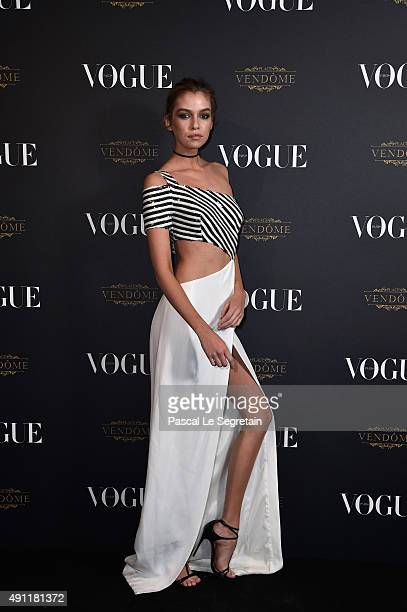 Stella Maxwell attends the Vogue 95th Anniversary Party on October 3 2015 in Paris France