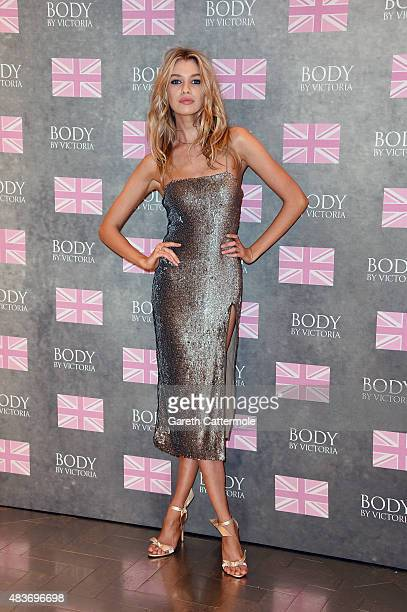 Stella Maxwell launches Victoria's Secret new 'Body by Victoria' collection on August 12 2015 in London England