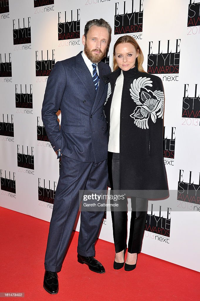 Stella McCartney and Alasdhair Willis attend the Elle Style Awards at The Savoy Hotel on February 11, 2013 in London, England.