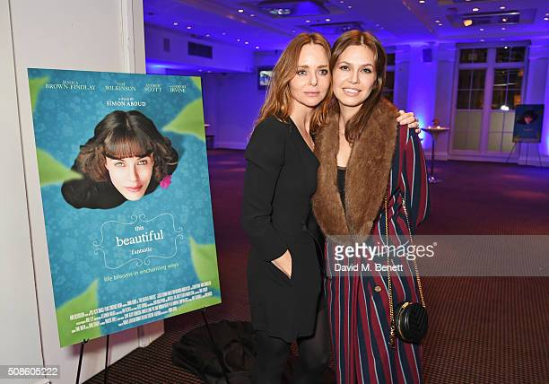Stella McCartney and Dasha Zhukova attend a cast and crew screening of 'This Beautiful Fantastic' at BAFTA on February 5 2016 in London England