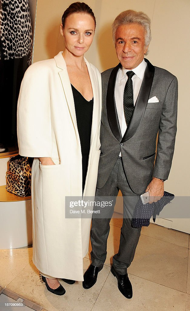 Stella McCartney (L) and Giancarlo Giammetti attend a private view of 'Valentino: Master Of Couture', exhibiting from November 29th, 2012 - March 3, 2013, at Somerset House on November 28, 2012 in London, England.
