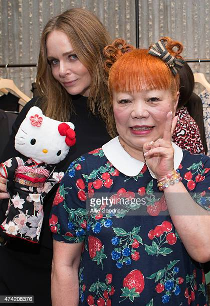 Stella McCartney and Hello Kitty designer Yuko Yamaguchi attends the opening party for Stella McCartney Aoyama Store on May 21 2015 in Tokyo Japan