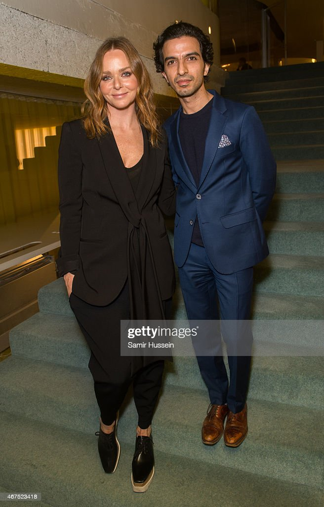 Stella McCartney and Imran Amed attend an interview for The Business of Fashion on March 25, 2015 in London, England.