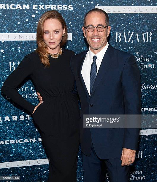 Stella McCartney and Jerry Seinfeld attend the 2014 Women's Leadership Award Honoring Stella McCartney at Alice Tully Hall at Lincoln Center on...