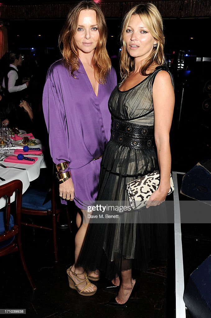 REQUIRED) Stella McCartney (L) and <a gi-track='captionPersonalityLinkClicked' href=/galleries/search?phrase=Kate+Moss&family=editorial&specificpeople=201830 ng-click='$event.stopPropagation()'>Kate Moss</a> attend the Hoping Foundation's 'Rock On' benefit evening for Palestinian refugee children at Cafe de Paris on June 20, 2013 in London, England.
