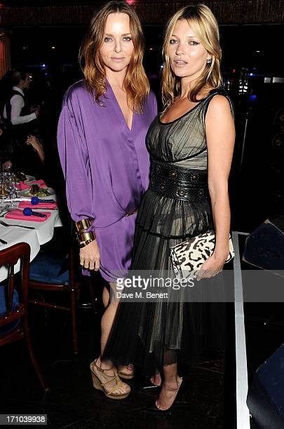 REQUIRED Stella McCartney and Kate Moss attend the Hoping Foundation's 'Rock On' benefit evening for Palestinian refugee children at Cafe de Paris on...