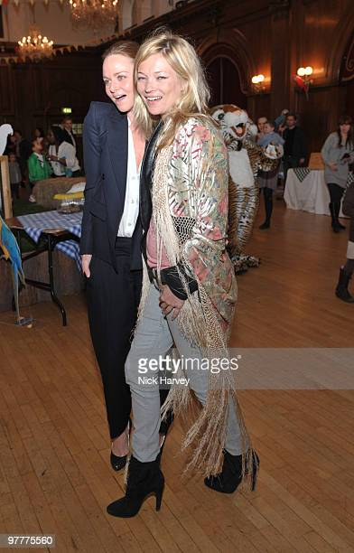 Stella McCartney and Kate Moss attend the launch of new collection by Stella McCartney for GapKids at Porchester Hall on March 16 2010 in London...