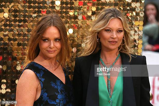Stella McCartney and Kate Moss attend the World premiere of 'Absolutely Fabulous' at Odeon Leicester Square on June 29 2016 in London England
