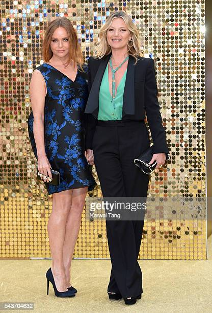 Stella McCartney and Kate Moss attend the World Premiere of 'Absolutely Fabulous The Movie' at Odeon Leicester Square on June 29 2016 in London...