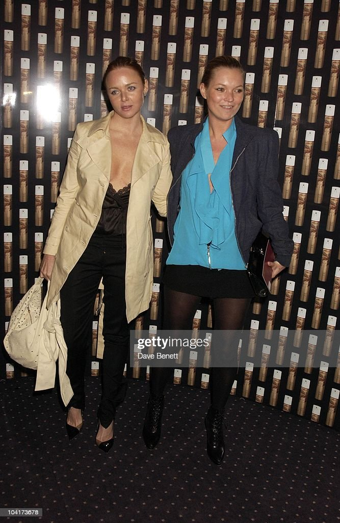 Stella Mccartney And Kate Moss, Frost French Fashion Tea Party At Bafta Cinema In Picadilly,turned The Normal Fashion Show On Its Head As The Audience Was Treated To A Film Of The Designers New Collection, London Fashion Week 2003